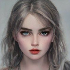 Fantasy Art Women, Beautiful Fantasy Art, Digital Art Girl, Digital Portrait, Meninas Comic Art, Model Face, Face Characters, Aesthetic Drawing, Illustration Girl