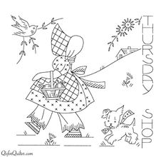 Q is for Quilter » Blog Archive » Vintage Embroidery Transfers — Sunbonnet Sue