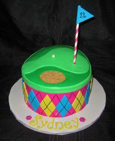 Girly Golf Cake — Children's Birthday Cakes