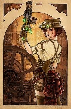 亗 Dr. Emporio Efikz 亗 | Steampunk Girl by DerekTall http://emporioefikz.tumblr.com/post/76320100986/