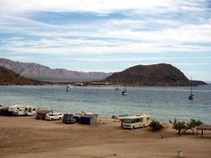 Playa Santispac in Bahia Concepcion, Baja California Sur, Mexico  Blog: http://bajabybus.com/blog/item/25-bahia-concepcion