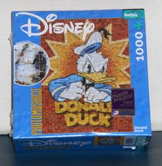 FOR SALE - Donald Duck Mickey Mouse 1000 Piece Jigsaw Puzzle Lot Photomosaics Disney NIB Buffalo Games Poster