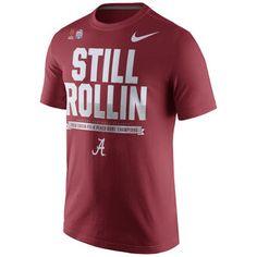 Men's Nike Crimson Alabama Crimson Tide College Football Playoff 2016 Peach Bowl Champions Locker Room T-Shirt