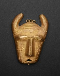 Pendant (Cow Head)  Baule or Lagoons peoples Côte d'Ivoire  Late 19th/mid-20th century  Gold  Art Institute of Chicago