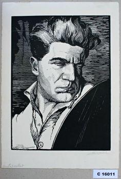 Vladimír Pukl - Vlastní podobizna   Moravská galerie v Brně   sbirky Art, Atelier, Art Background, Kunst, Performing Arts