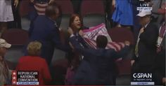 RIGHT-WINGERS AT RNC JUST USED AN AMERICAN FLAG TO ATTACK A PROTESTER – LIVE ON CSPAN (VIDEO) http://winningdemocrats.com/right-wingers-at-rnc-just-used-an-american-flag-to-attack-a-protester-live-on-cspan-video/