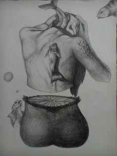My little mermaid 😄🙈 Pencil sketch 🎨 Still got flaws 🙈