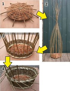 Weaving a wicker basket; the most comprehensive basket tutorial on the intern. Paper Basket Weaving, Basket Weaving Patterns, Willow Weaving, Weaving Projects, Weaving Art, Recycled Magazines, Basket Crafts, Rope Basket, Wicker Baskets