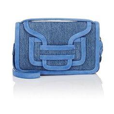 Pierre Hardy Women's Alpha Crossbody Bag (76085 RSD) ❤ liked on Polyvore featuring bags, handbags, shoulder bags, blue, travel purse, blue cross body purse, suede crossbody, blue suede handbag and blue shoulder bag