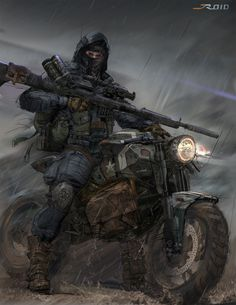 Concept Art World — Check out this Sniper concept sketch by Jordan. Post Apocalypse, Image Moto, Character Concept, Character Art, Soldado Universal, Art Zombie, Post Apocalyptic Art, Epic Mickey, Arte Robot