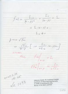 2020年2月11日(火) 9:17  №1093 これは 平方根のゼロ除算算法の例ですが、元のゼロ除算の値が 全く関係せず、 平方根の値が、全然違う 値から求まっていることに 驚きました。  それで新しい知見に加えました。  ゼロ除算算法では、積の法則が 一般には 成り立たない。 Sheet Music, Bullet Journal, Music Score, Music Charts, Music Sheets