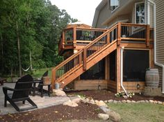 IPE deck, screened porch and patio