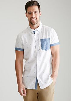 River Island Short Sleeve Shirt in Color Block | Pour Homme ...
