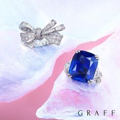 Graff Diamonds (@graff) on Instagram: Our striking cocktail rings, featuring vibrant sapphires and diamonds.