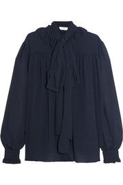 See by ChloéPussy-bow chiffon blouse