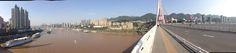 Bridge over the Yangze river in Chongqing.