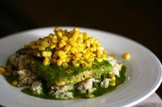 Tempeh Chimichurri with Corn & Brown Rice