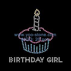 Cute Hot Sale Birthday Girl Motif Rhinestone Wholesale 6c22771ecb34
