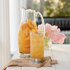 Going to have to try this one:  Fresh Summer Peach Recipes | Governor's Mansion Summer Peach Tea Punch | SouthernLiving.com