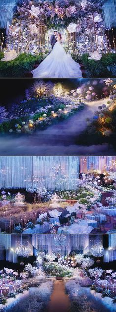 6 Breathtaking Fairy Tale-Inspired Indoor Wedding Décor Themes You'll Love While an outdoor wedding is typically sought after in summer, it isn't always practical for every couple. If you are planning an indoor wedding but don't want to sacrifice style fo Wedding Stage, Wedding Goals, Wedding Events, Dream Wedding, Wedding Ceremony, Destination Wedding, Decoration Evenementielle, Debut Stage Decoration, Debut Decorations