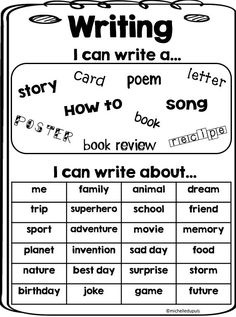 FREEBIE Writing - I can write about is perfect for any student. Grab this freebie on my blog.