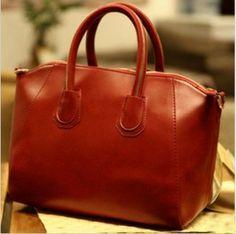 Women PU Leather Simple And Elegant Zipper Handbag