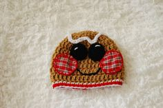 Gingerbread Man Crochet Hat for boys or girls by alanemarie 41f3bc04f2e0