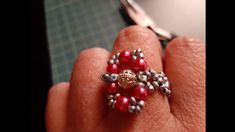 PEARL RING IN 15 MINUTES Pearl Ring, Make It Yourself, Pearls, Rings, Beads, Ring, Pearl Rings, Jewelry Rings, Gemstones