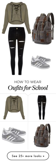 """Untitled #41"" by hillary200 on Polyvore featuring adidas Originals"