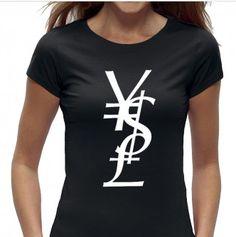 ysl t-shirt - fashion top met tekst