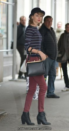 40 Times Taylor Swift's Street Style Was Totally Flawless Taylor Swift Outfits, Taylor Swift Style, Zooey Deschanel, Trendy Outfits, Cool Outfits, New York City Pictures, Street Style 2014, Hipster, Celebrity Red Carpet