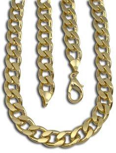 Corrente masculina grossa folheada a ouro Código: CR0046 60                                                                                                                                                                                 Mais
