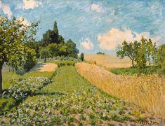 Alfred Sisley - Paysage d'été avec des champs