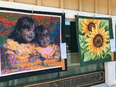 Come Quilt (Sue Garman) Scott Hansen, Sew Kind Of Wonderful, Sunflower Quilts, International Quilt Festival, The Quilt Show, Show Photos, Zinnias, Sisters, Tapestry