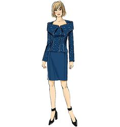 New sewing pattern from Butterick: the very definition of power suit. Wear this to work, or sew it up in dressier fabrics for special occasions. Misses' Jacket and Skirt Skirt Patterns Sewing, Vogue Sewing Patterns, Clothing Patterns, Suit Pattern, Line Jackets, Princess Seam, Couture, Sewing Clothes, Dresses For Work