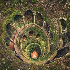 Via @abanddoned The ''Initiation Well'' one of two wells on the Quinta da Regaleira an estate located near the historic center of Sintra Portugal Check out @abanddoned for more info. Photo by  @matthias_haker #Places_wow by placeswow