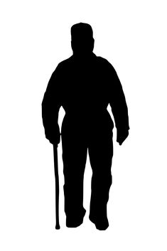 Image result for silhouette old man