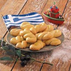 Greek Holiday Cookies Recipe -These buttery golden twists are a traditional treat in Greece, where they are usually made for Easter and other celebrations. One side of my family is Greek, and I enjoy making foods that keep me in tough with my heritage.—Nicole Moskou, New York, New York