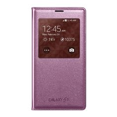 Samsung Galaxy S5 Case S View Flip Cover Folio, Pink