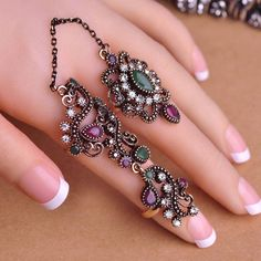 Vintage Pretty Exquisite Mid Rings Fashion Turkish Jewelry