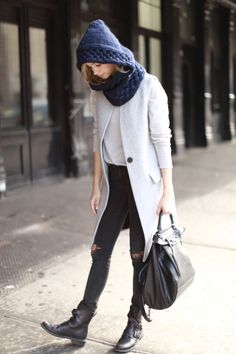 Are you ready for winter?  Stay stylish and cozy with a hand-knit hooded cowl, it's like a hat and scarf had a baby, so chic!