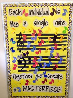Music bulletin board....black and neon