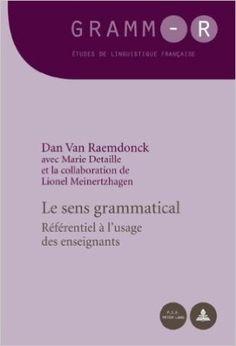 Le sens grammatical : référentiel a l'usage des enseignants / Dan Van Raemdonck, avec Marie Detaille et la collaboration de Lionel Meinertzhagen - Bruxelles : P.I.E. Peter Lang, 2011