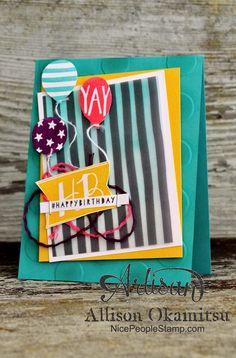 nice people STAMP!: Balloon Bash Birthday Card: Stampin' Up! Artisan Blog Hop