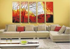 Wieco Art-Stretched and Framed 100% Hand-painted Modern Canvas Wall Art Decor Free Shipping Perfect Home Decoration Abstract Oil Paintings o... - Click image twice for more info - See a larger selection of wall paintings at http://www.zbestsellers.com/level.php?node=106&title=oil-paintings - home, home decor, home ideas, wall decor, oil paintings, gift ideas