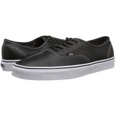 Vans Authentic Skate Shoes ($45) ❤ liked on Polyvore featuring shoes, sneakers, vans sneakers, light weight shoes, vans trainers, genuine leather shoes and real leather shoes
