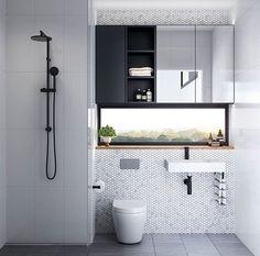 Upgrade Your House With Modern & Minimalist Bathroom Design Ideas That Will Impress Your Guest house bathroom floor shower interiordesign 119908408814929800 Compact Bathroom, Laundry In Bathroom, Simple Bathroom, Modern Bathroom, Unit Bathroom, Master Bathroom, Bathroom Artwork, Relaxing Bathroom, Minimal Bathroom
