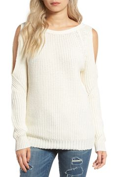 Glamorous Cold Shoulder Sweater available at #Nordstrom