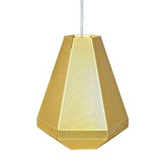 Tom Dixon Cell Suspension Light - Tall: A light that mimics cellular growth which can be used in multiple, geometric configurations.   -Each Cell is made from layers of minutely etched, polished brass filtering light rays to throw a satisfyingly dappled glow casting intricate shadows on walls, floors and ceilings.  -Tom Dixon Cell lights's use a brass crown LED bulb developed exclusively by Tom Dixon with Megaman.