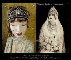Tiara,1920s Headpiece,Flapper Headband,Flapper Accessories,1920s Flapper Dress Headband,Art Deco,Downton Abbey,1920s Party Headband by Jevda on Etsy